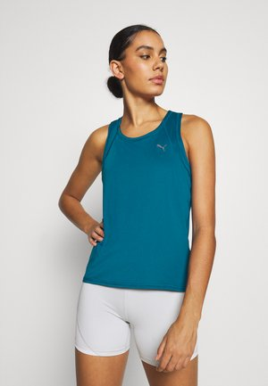TRAIN FAVORITE RACERBACK - Camiseta de deporte - digi-blue