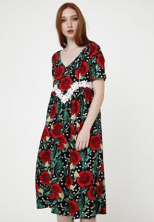 Day dress - schwarz rot