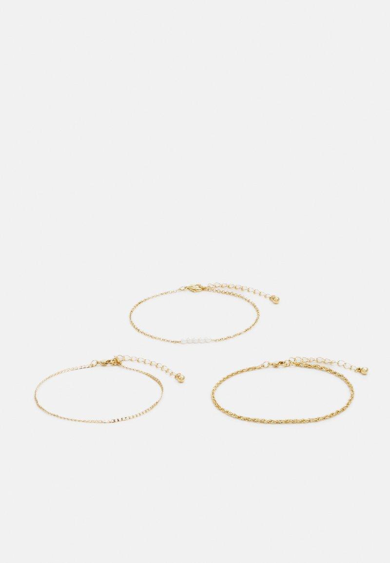 Topshop - PEARL 3 PACK - Bracelet - gold-coloured