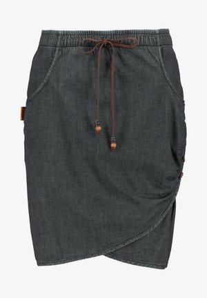 LUCYAK  - Wrap skirt - black denim
