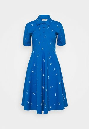 PRIM DRESS - Day dress - warm indigo/chalk