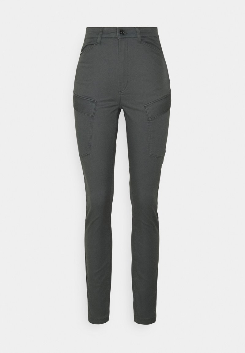 G-Star - HIGH SHAPE CARGO SKINNY PANT - Cargo trousers - graphite