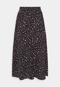 Pieces - PCDALLAH MIDI SKIRT - A-line skirt - maritime blue/brown - 1