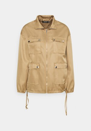 POCKET DETAIL ZIP UP JACKET - Lett jakke - brown