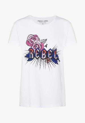 EMO TEE - Print T-shirt - rebel white