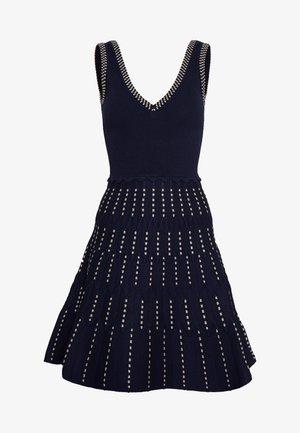 Strikket kjole - marine