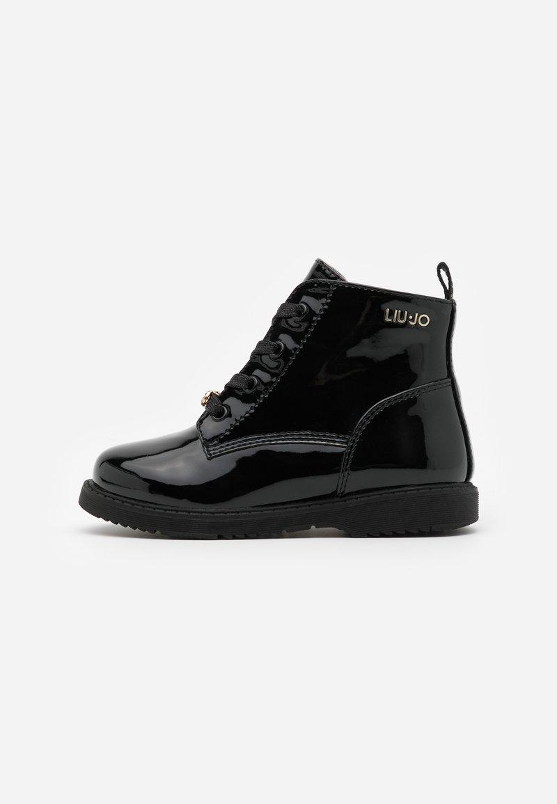 LIU JO - PAT - Šněrovací kotníkové boty - black