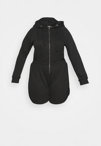 ZIP THROUGH HOODED - Jumpsuit - black