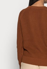 TOM TAILOR DENIM - HALF CARDIGAN - Jumper - amber brown - 2