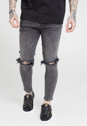 DISTRESSED SLICE KNEE - Jeans Skinny Fit - dark grey