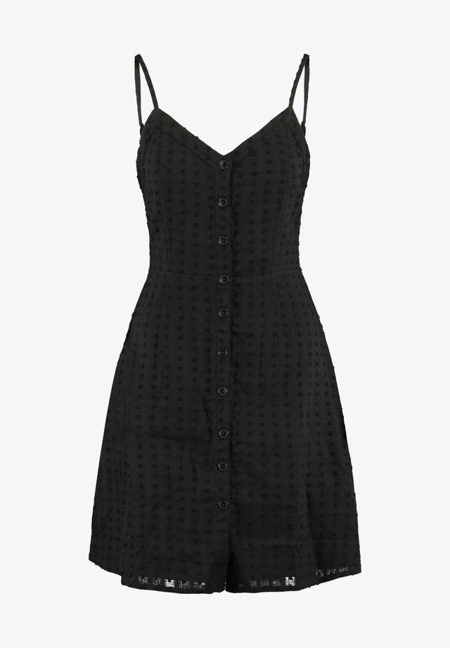Korte jurk - washed black