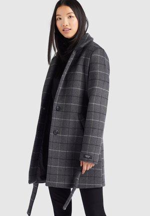 LUCILE - Classic coat - grau kariert