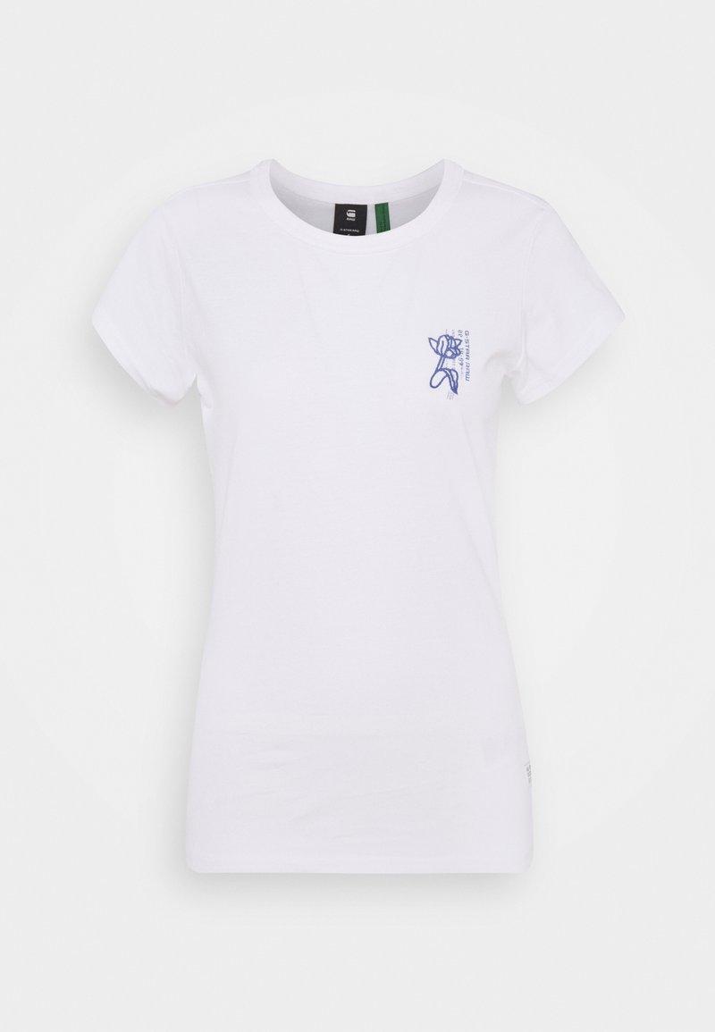 G-Star - SLIM FIT TULIP TEE - Print T-shirt - white