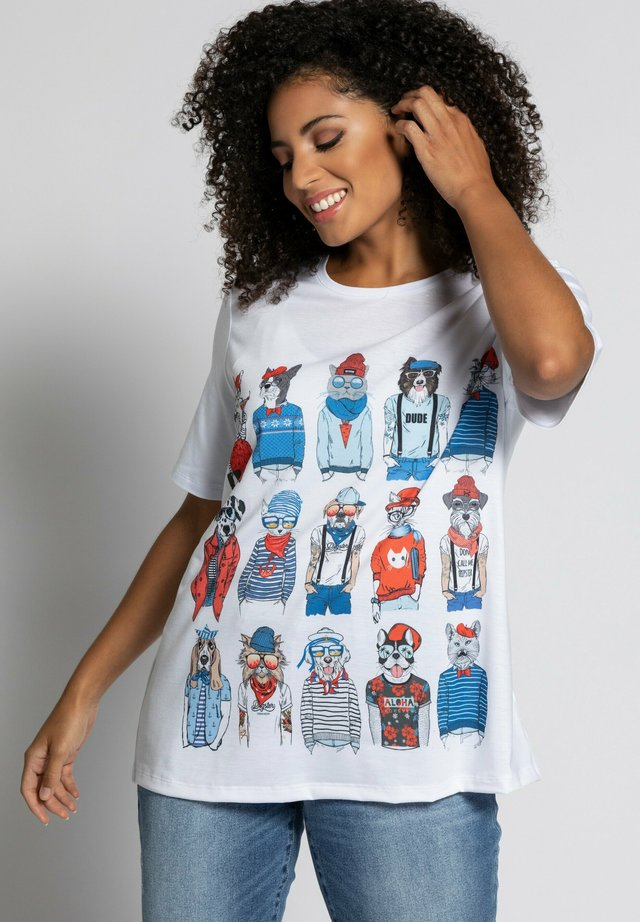 COOL DOGS AND CATS - T-shirt imprimé - snow white