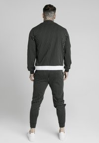 SIKSILK - PINSTRIPEJACKET - Giubbotto Bomber - black/white - 2