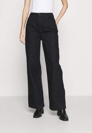 HIGH RISE WIDE LEG - Jeans relaxed fit - black