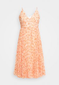 PLEATED MAXI DRESS - Cocktail dress / Party dress - orange
