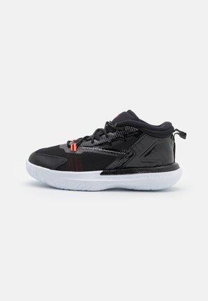 ZION 1 UNISEX - Basketball shoes - black/bright crimson/white