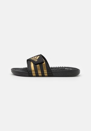 ADISSAGE UNISEX - Rantasandaalit - core black/gold metallic