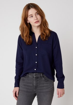 Button-down blouse - navy blue