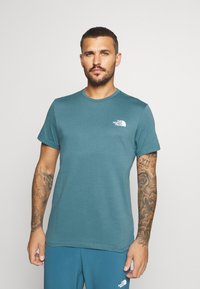 The North Face - MENS SIMPLE DOME TEE - Basic T-shirt - mallard blue - 0