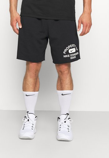 STANDARD ISSUE  - Sports shorts - black/pale ivory