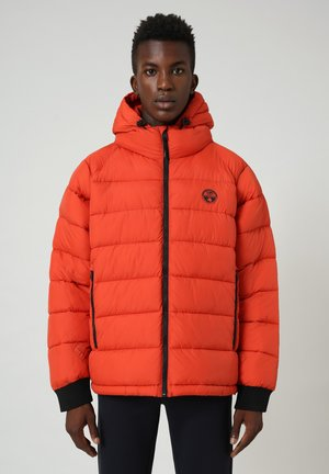 CIRCULAR PUFFER - Winter jacket - orange clay