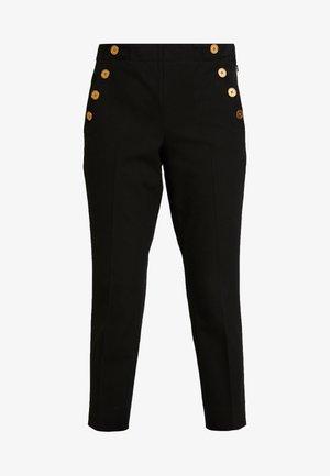 SLOAN SOLID BRUSHED SAILOR - Trousers - black