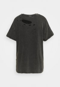Free People - RUBI TEE - Jednoduché triko - washed black - 1