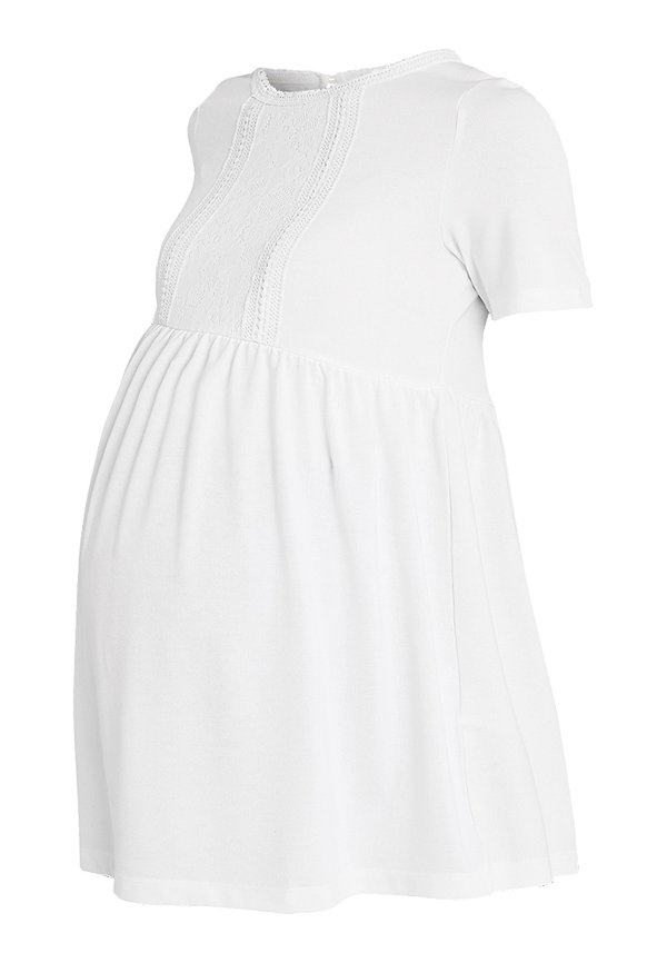 MAMALICIOUS MLJACQUELIN - T-shirt z nadrukiem - snow white Kolor jednolity Odzież Damska IYXZ HC 2