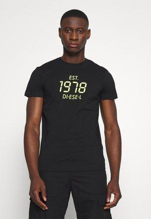 T-DIEGOS - Print T-shirt - black