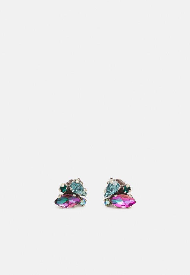 ABEGAIL - Boucles d'oreilles - blue/green/dark rose