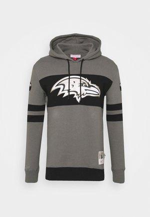 BALTIMORE RAVENS NFL METAL WORK HOODIE - Club wear - charcoal