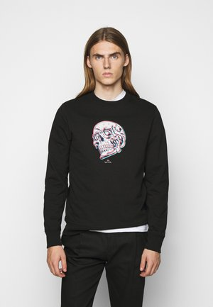 MENS REGULAR FIT SKULL - Sweater - black/multi-coloured