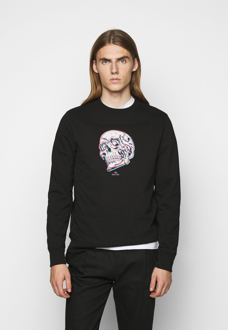PS Paul Smith - MENS REGULAR FIT SKULL - Sweatshirt - black/multi-coloured