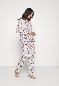 Women Secret - LONG SLEEVES MASCULINE SET - Pyžamová sada - white - 1