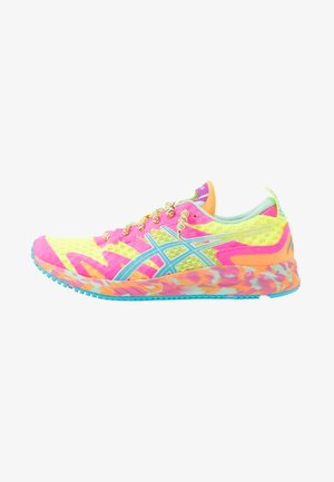 GEL-NOOSA TRI 12 - Competition running shoes - safety yellow/aquarium