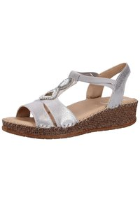 Jenny - Wedge sandals - gray - 2
