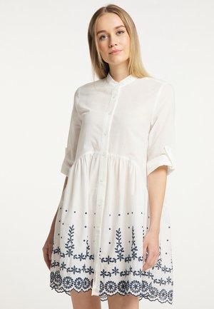Shirt dress - weiss marine