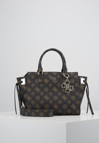 Guess - DIGITAL STATUS SATCHEL - Handbag - brown - 0