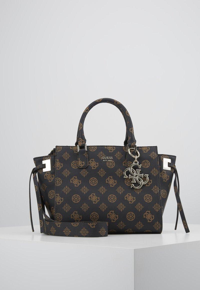 Guess - DIGITAL STATUS SATCHEL - Handbag - brown