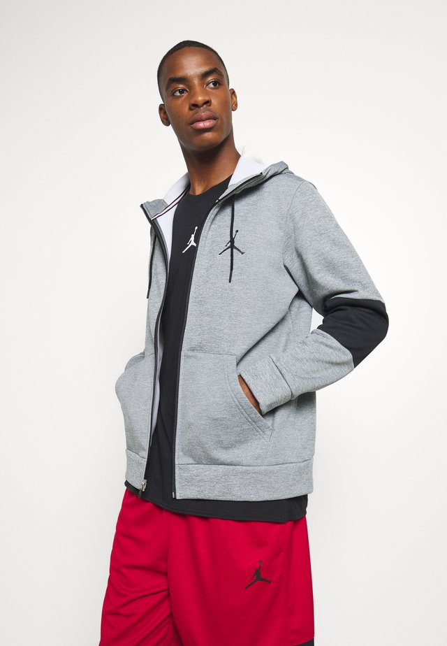 AIR THERMA FULL ZIP - Felpa aperta - carbon heather/black/white