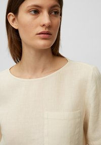 Marc O'Polo - BLOUSE SHORT SLEEVE CHEST POCKET STYLE - Blouse - summer taupe - 3