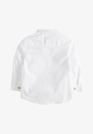 BLUE LONG SLEEVE LINEN MIX GRANDAD SHIRT (3MTHS-7YRS) - Camicia - white
