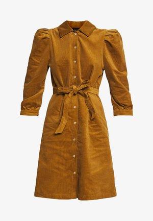 SLFOLLIE  - Shirt dress - bronze brown