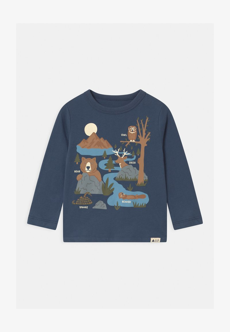 GAP - TODDLER BOY GRAPHIC - Long sleeved top - blue shade