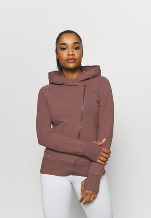 YOGA FITTED - Zip-up hoodie - smokey mauve/desert dust