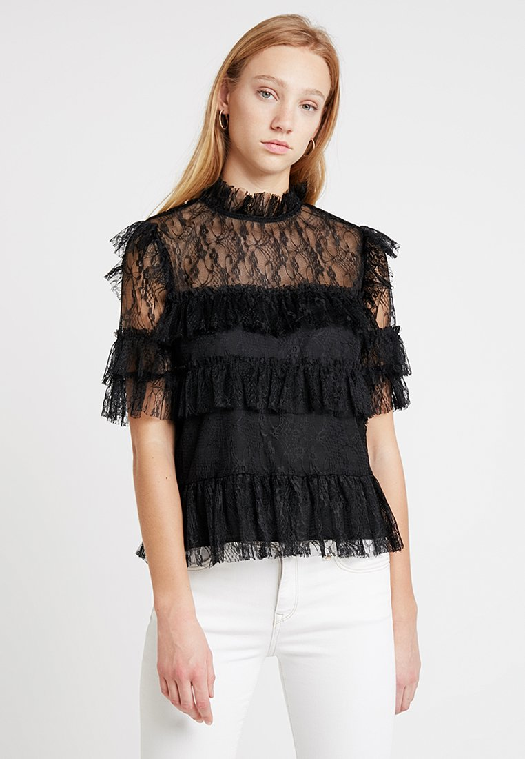 By Malina - RACHEL BLOUSE - Bluser - black