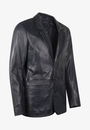 HYPE BLAZER - Leather jacket - royal blue