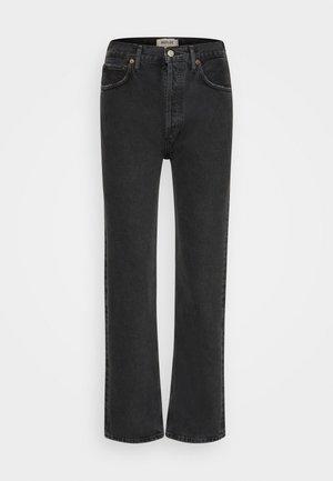 90'S PINCH WAIST - Straight leg -farkut - black tea/washed black